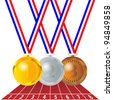 Olympic medals - stock photo