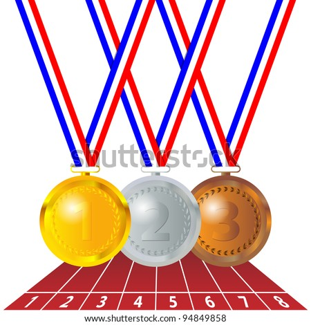 Olympic medals - stock vector