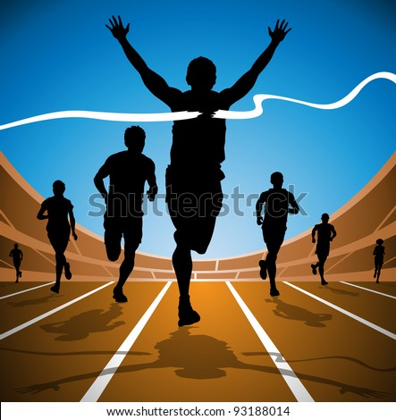 Olympic Race Winner - stock vector