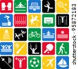 Olympic sports icons - stock vector
