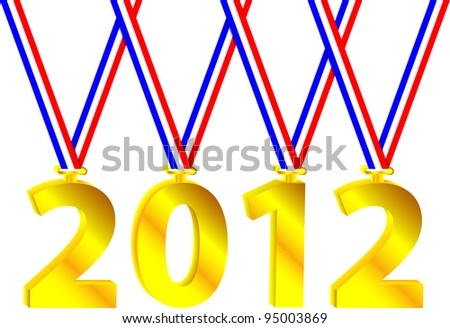 Olympic year - stock vector