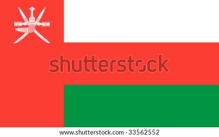 Oman Flag - stock vector