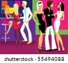 on a party - stock vector