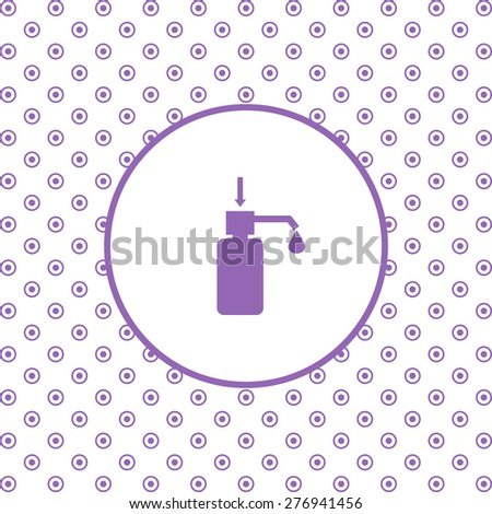 On a white background pink circles. Shower Gel, Liquid Soap, Lotion, Cream, Shampoo, Bath Foam. icon. vector design - stock vector