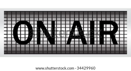 on air banner - stock vector