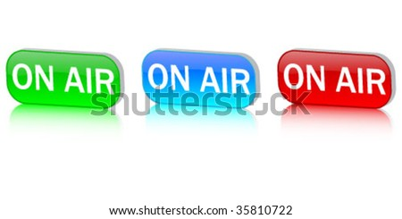 on air buttons - stock vector