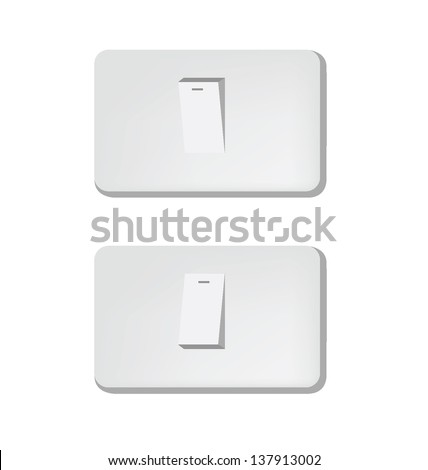 ON and OFF positions. switch vector illustration. - stock vector