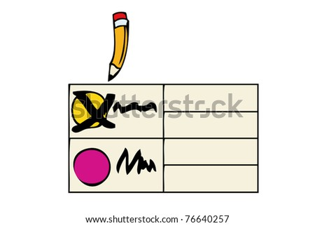 On Election Day - stock vector