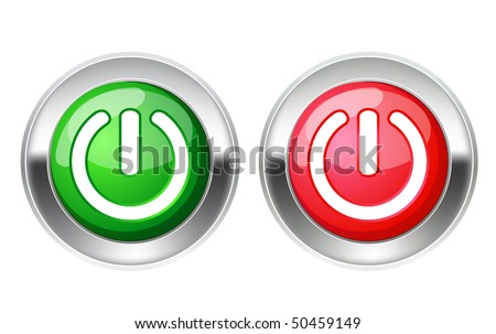 On off switch - stock vector
