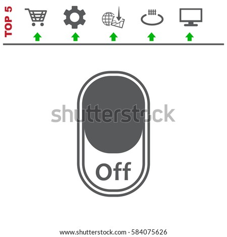 On Off Switch Icon Vector Flat Design Style