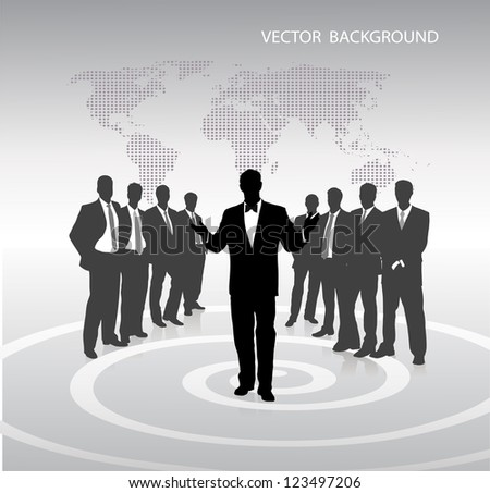 on the image abstract business a background is presented - stock vector