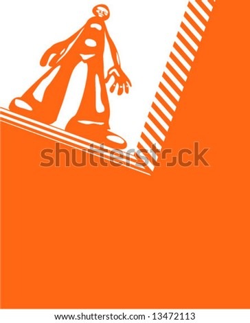 on the verge / be on the brink of a precipice - stock vector