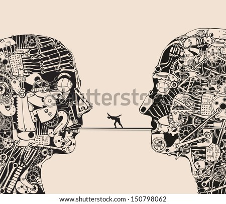 On the verge of understanding. - stock vector