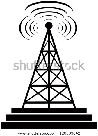 Broadcast Tower Vector Radio Tower Stock Imag...