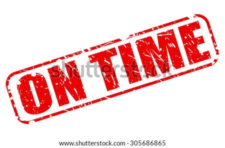 On time red stamp text on stock vector 2018 305686865 shutterstock on time red stamp text on white thecheapjerseys Images