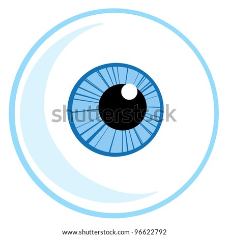 One Blue Eye Ball. Jpeg version also available in gallery. - stock vector