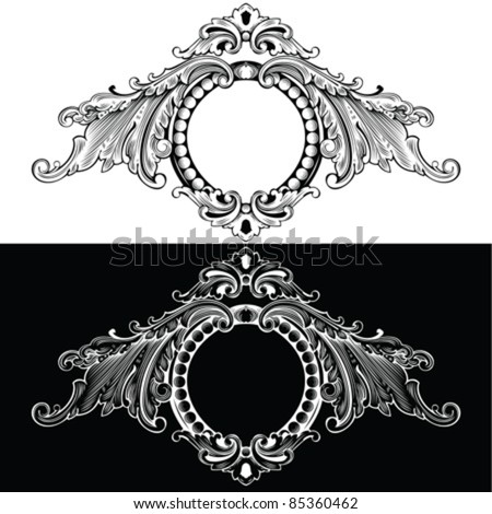 One Color Retro Frames - stock vector