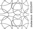 One Color Seamless Barbwire Background - stock vector