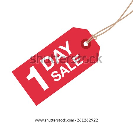 one day sale sign - stock vector