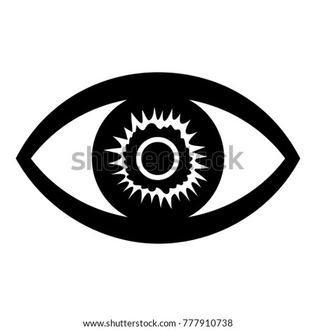 One Eye Icon Simple Illustration One Stock Vector 777910738