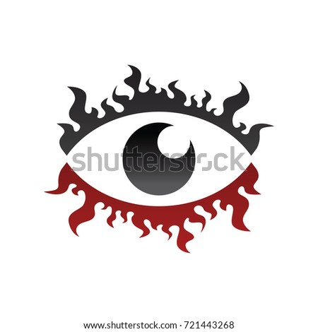 One Eye Horus Fire Burn Stock Vector 721443268 Shutterstock