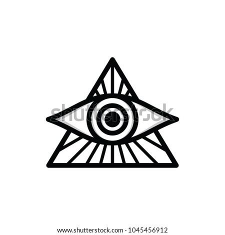 One Eye Sign Symbol Logo Logotype Stock Vector 1045456912 Shutterstock