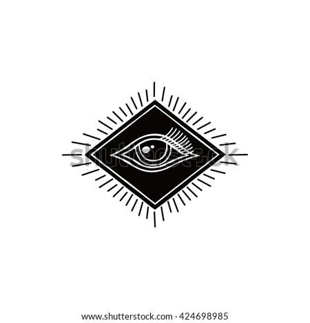 One Eye Symbol Theme Vector Art Stock Vector 424698985 Shutterstock