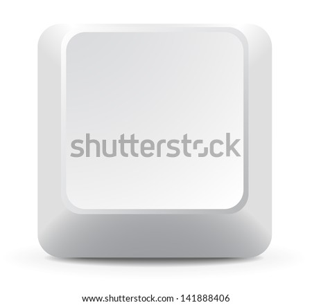 One Keyboard Key - stock vector