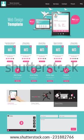 Business Abstract Website Design Template Vector Stock Vector
