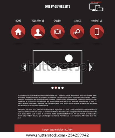 One page website design template vector illustration, eps10, easy to edit - stock vector