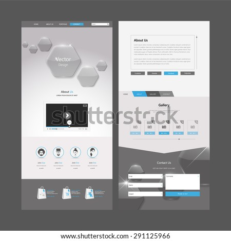 One Page Website Template and Header Designs