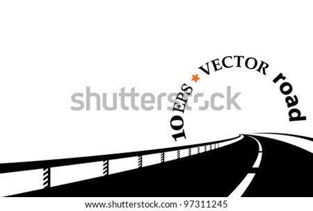 one road - stock vector