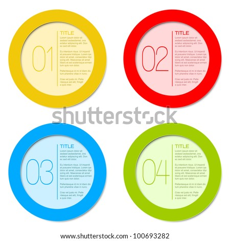 One two three four - vector progress icons for four steps - stock vector