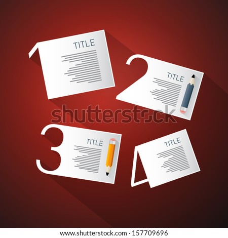 One, Two, Three, Four, Vector Steps for Tutorial, Infographics - stock vector