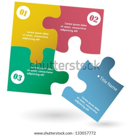 One two three - vector progress icons for three steps and space for title name - stock vector