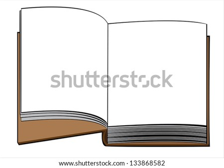 one vector book isolated on white background