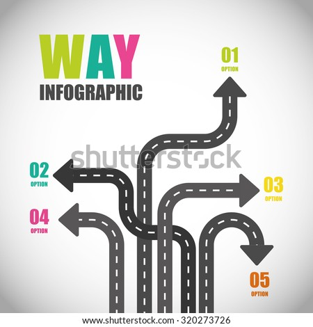 One way road sign advertising design, vector illustration eps 10 - stock vector