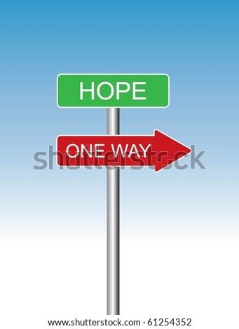 One way sign vector