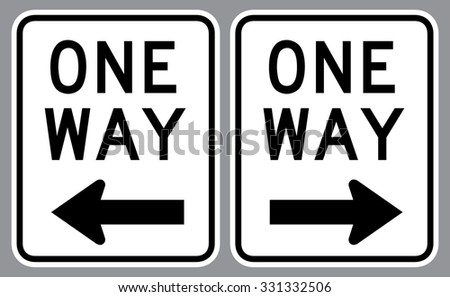 One Way Sign . Vector illustration - stock vector