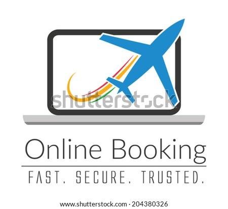 Online Booking - stock vector