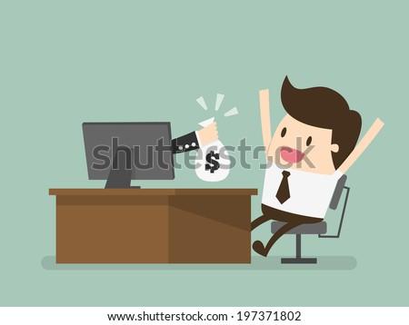 online business - stock vector