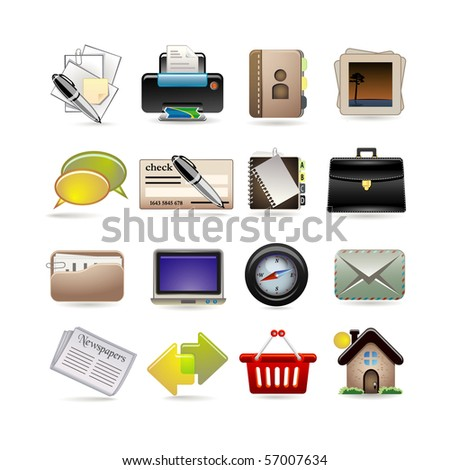 online business icon set - stock vector