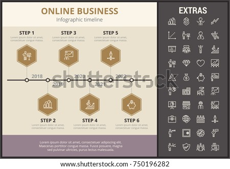 online business infographic timeline template elements stock vector