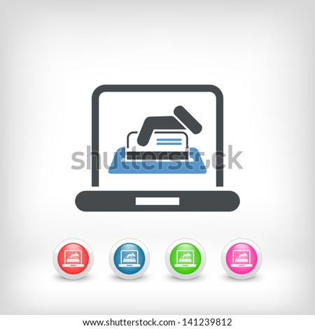 Online credit card - stock vector