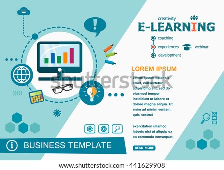 Online Elearning Design Concepts Words Learning Stock Vector HD ...