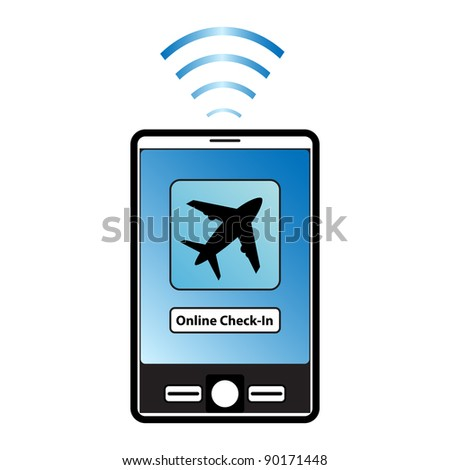 Online flight check-in using a smartphone.