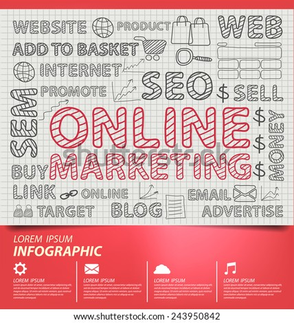 Online marketing concept vector Illustration - stock vector