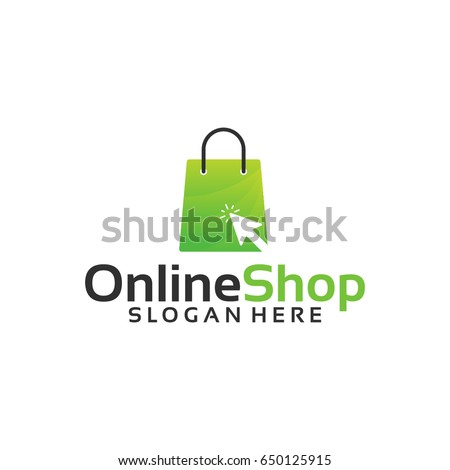 Online Shop Logo Designs Template Vector Stock Vector