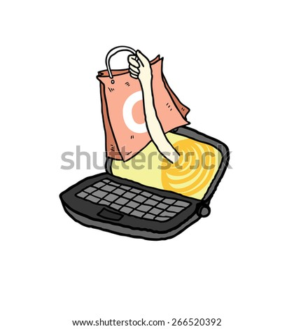 online shopping concept - stock vector