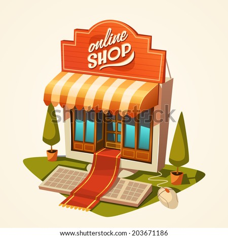 Online shopping concept. Vector illustration. - stock vector